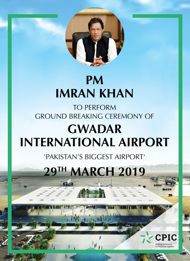Prime Minister Imran Khan to Inaugurate Build of New Gwadar International Airport