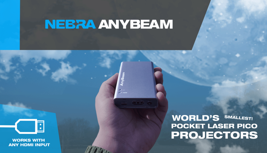 Nebra AnyBeam Launch on Kickstarter – World's First Pocket-Sized Laser Projector Set to 'Revolutionise' Projector Market