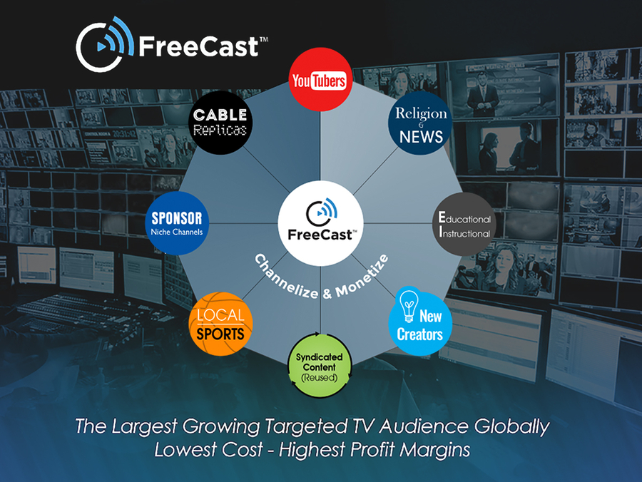 "NAB 2019: FreeCast ""Channelize and Monetize"" Solution Injects Revenue into Existing Content Libraries"