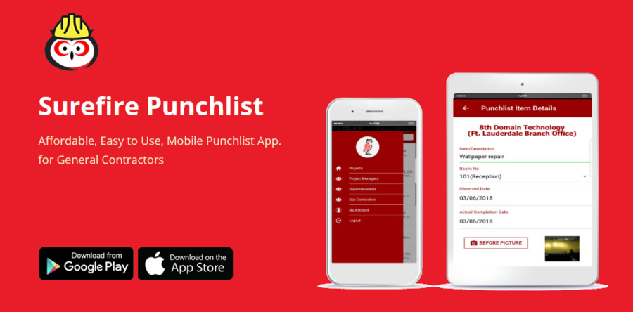 Surefire Punchlist Mobile App. Version 2.0.4 – Release to Market