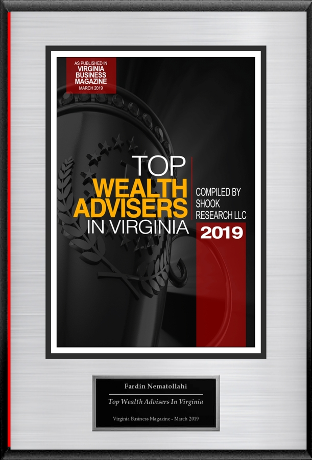 "Fardin Nematollahi Selected For ""Top Wealth Advisers In Virginia"""
