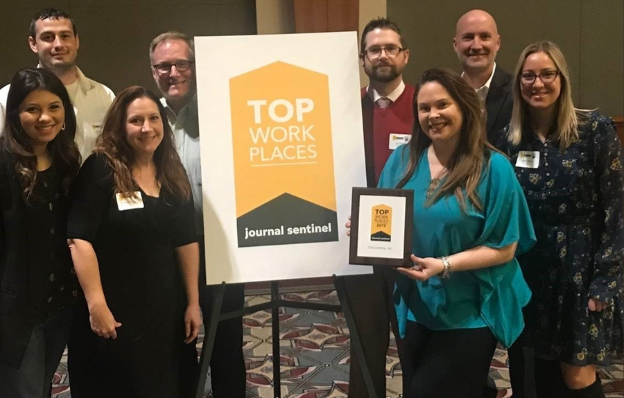 Concurrency, Inc. Recognized by Milwaukee Journal Sentinel as a 2019 Top Workplace