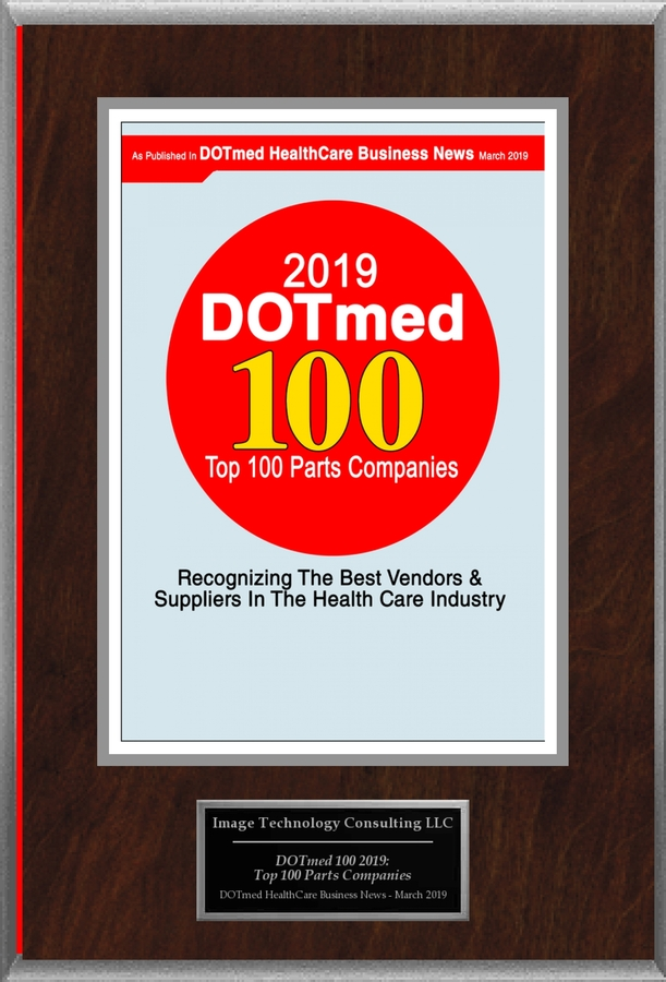 "Image Technology Consulting LLC Selected For "" DOTmed 100 2019: Top 100 Parts Companies"""