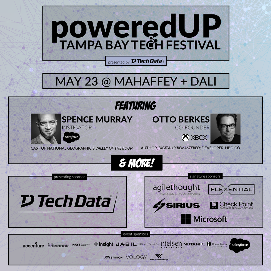 Announcing the 2019 poweredUP Tampa Bay Tech Festival