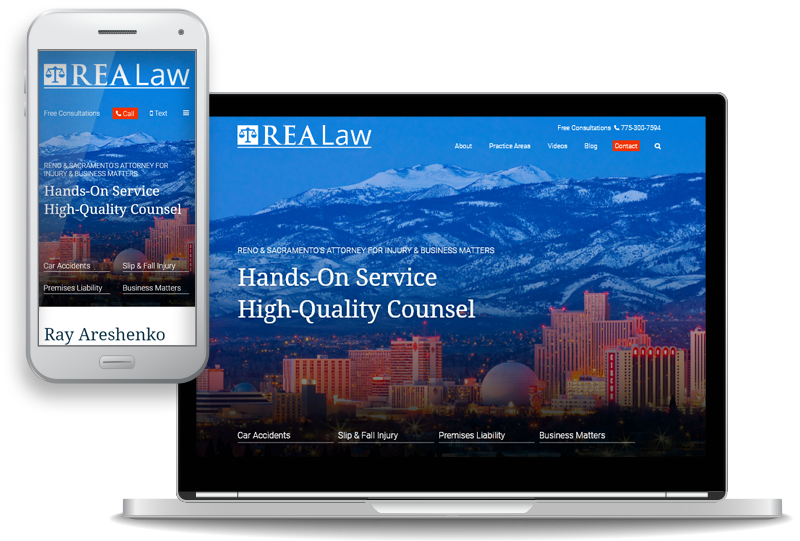 REA Law Launches New Website for Personal Injury and Business Law Clients in and around Reno, Nevada