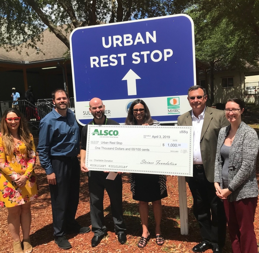 Alsco Jacksonville Donates to Urban Rest Stop