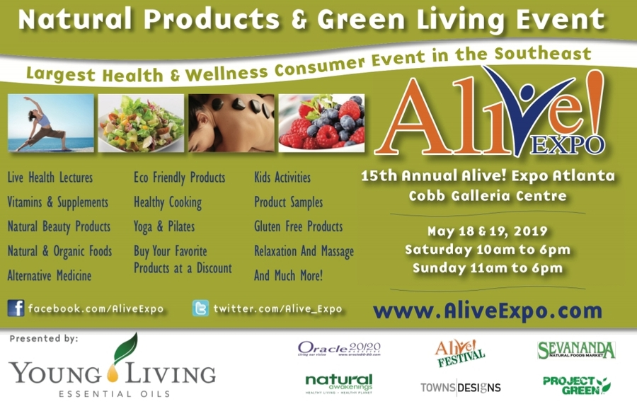 15th Annual Alive! Expo Returns To Atlanta With Celebrity Keynote Presenters