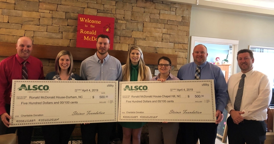 Alsco Durham Donates to Ronald McDonald House of Chapel Hill
