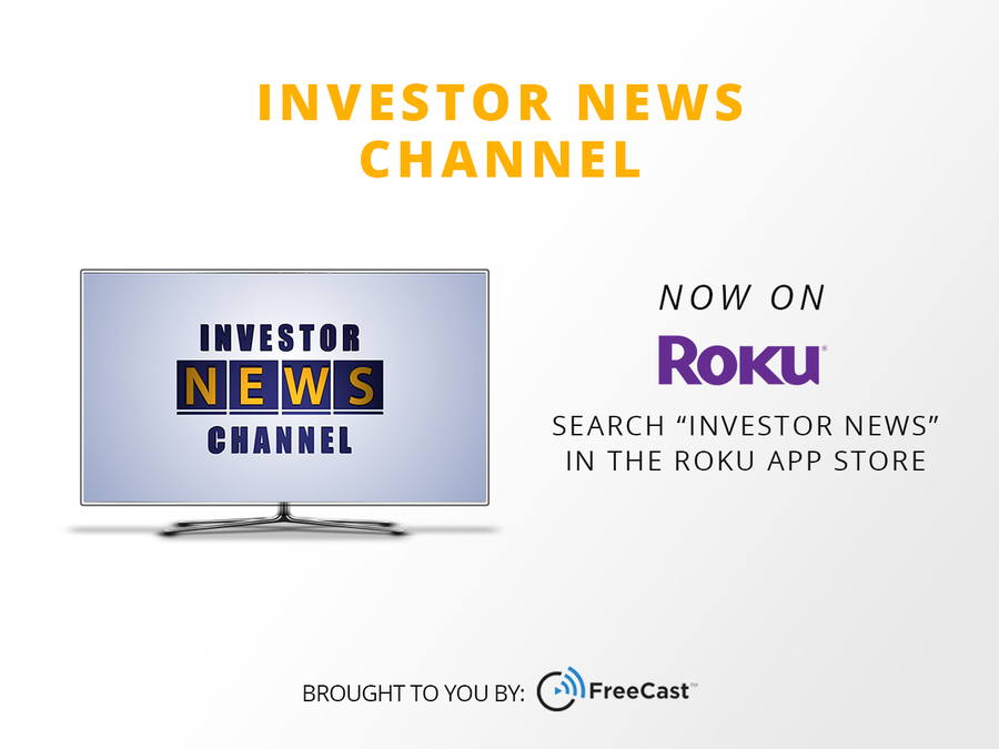 FreeCast's Investor News Channel Reaches Millions via Roku