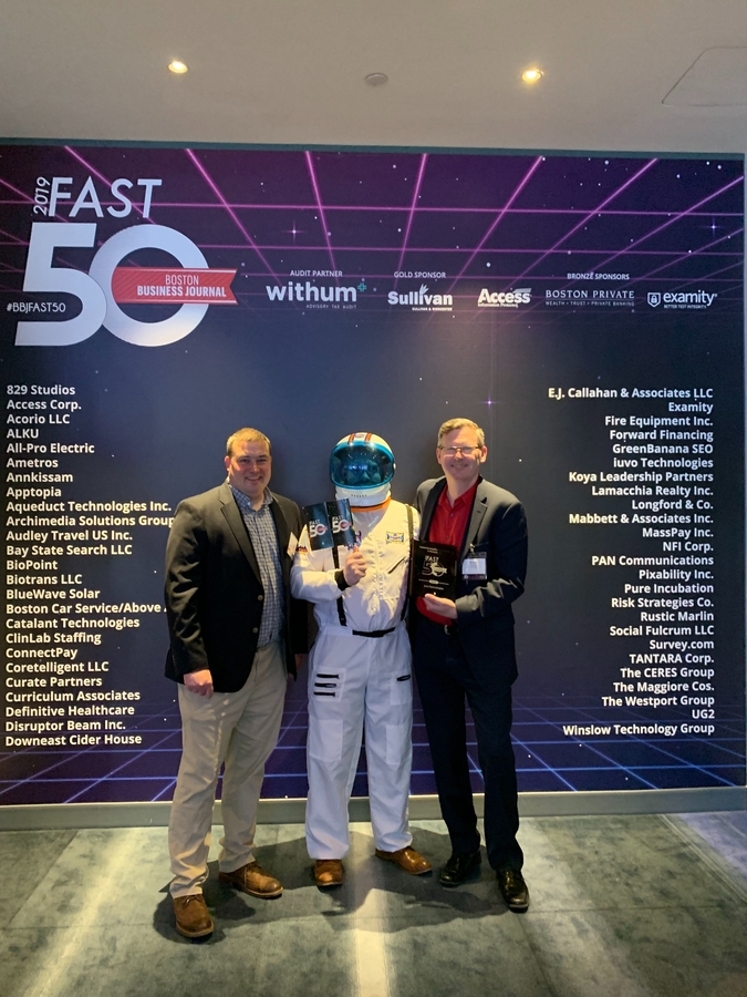 iuvo Technologies Named One of Boston Business Journal's 2019 50 Fastest-Growing Companies
