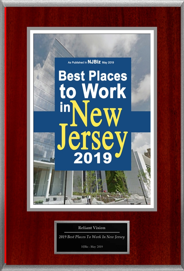 "Reliant Vision Group Inc Selected For ""2019 Best Places To Work In New Jersey"""