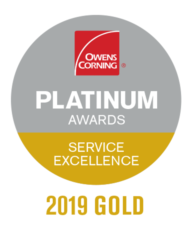 Guardian Roofing Receives Prestigious Owens Corning Gold Product Excellence Award 2019