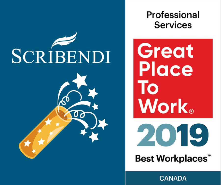 Scribendi Makes the 2019 List of Best Workplaces™ for Professional Services