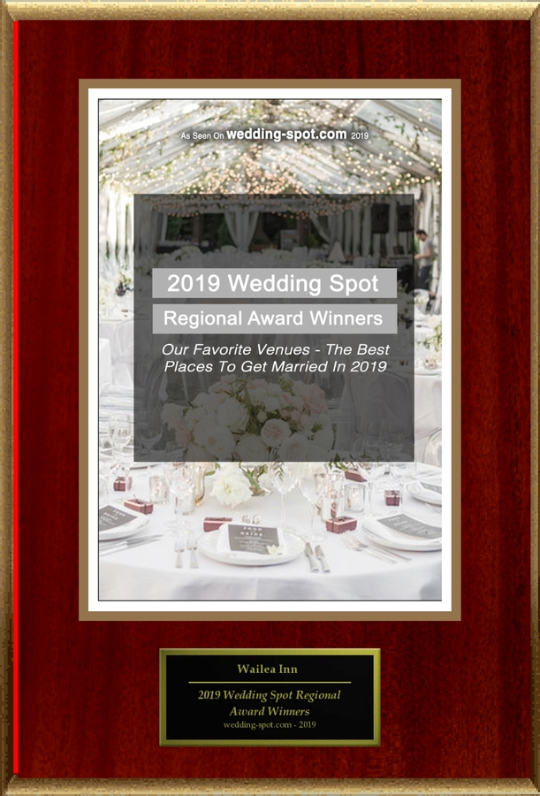 """Wailea Inn Selected For """"2019 Wedding Spot Regional Award Winners"""""""