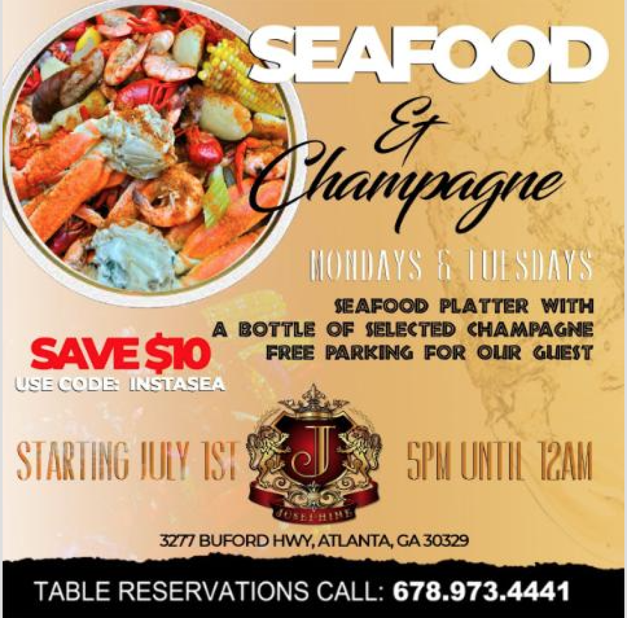 The Josephine Lounge Announces a New Monday and Tuesday Menu – Seafood and Champagne Starting July 1st