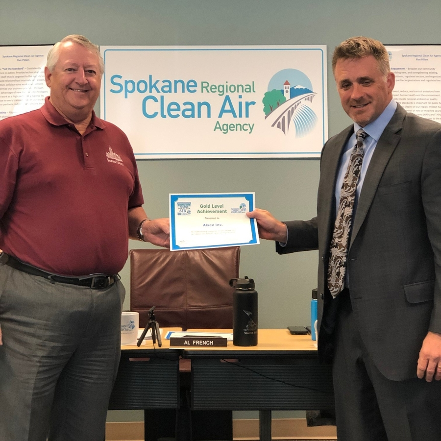 Alsco-Spokane Receives Special Recognition for Helping Improve Air Quality in Spokane County