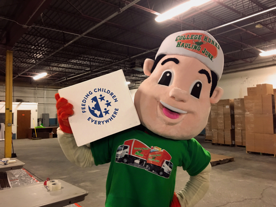 College H.U.N.K.S. Hauling Junk & Moving® Exceeds Goals, Donating 1 Million Meals to Children and Families in Need