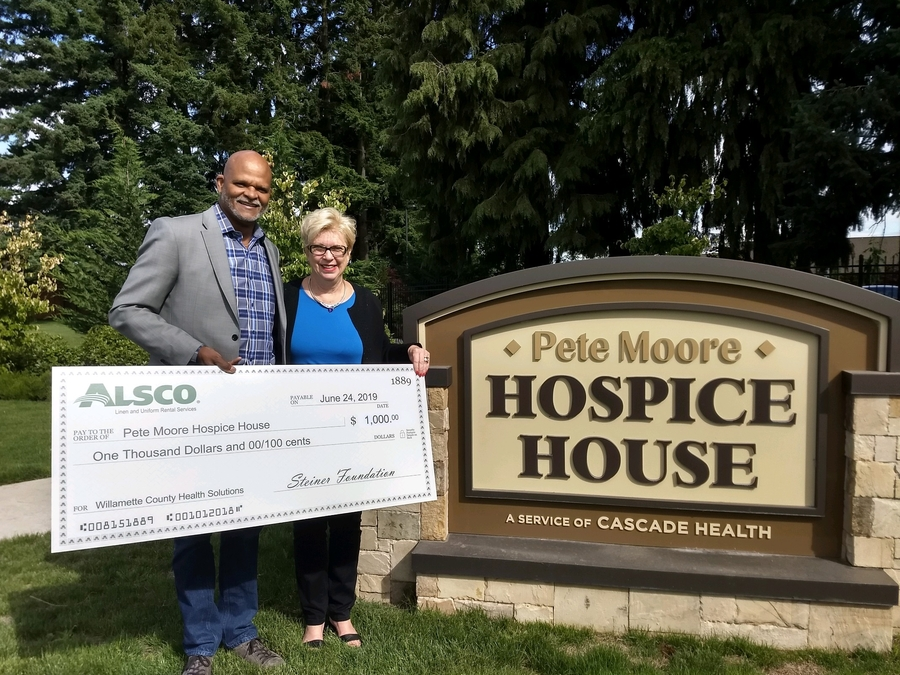 Alsco Eugene Branch Donates to the Pete Moore Hospice House