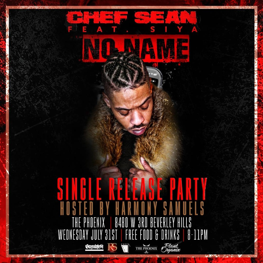"New Single Release dropping for Rapper Chef Sean entitled ""No Name"", featuring Oxygen Channel's ""Sisterhood of Hip Hop"" Siya, produced by Grammy Award Winner Harmony Samuels"
