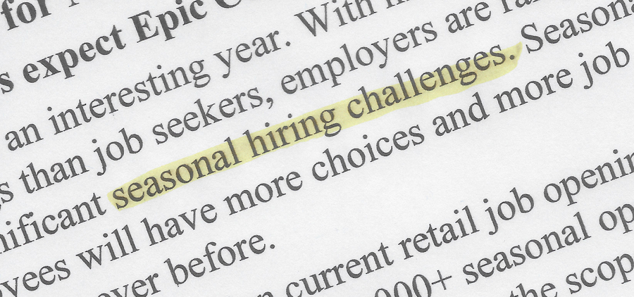Seasonal Hiring in a Hyper-Competitive Market