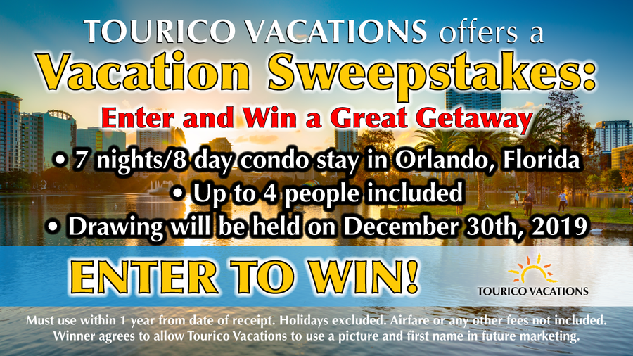 Tourico Vacations Launches Vacation Sweepstakes: Enter Now for a Chance to Win a Great Getaway