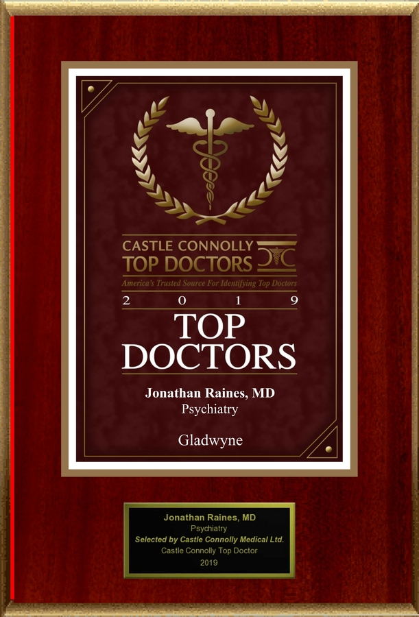 Dr. Jonathan M. Raines, M.D. is Recognized Among Castle Connolly Top Doctors® for Gladwyne, PA Region in 2019