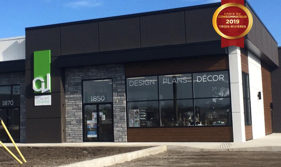 Le Choix du Consommateur est fier d'annoncer Concept Johanne en tant que lauréat dans la catégorie Design d'intérieur pour la région de Trois-Rivières