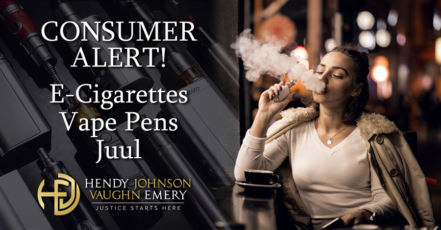 Consumer Health Alert: E-cigarettes, Vape Pens and Juul