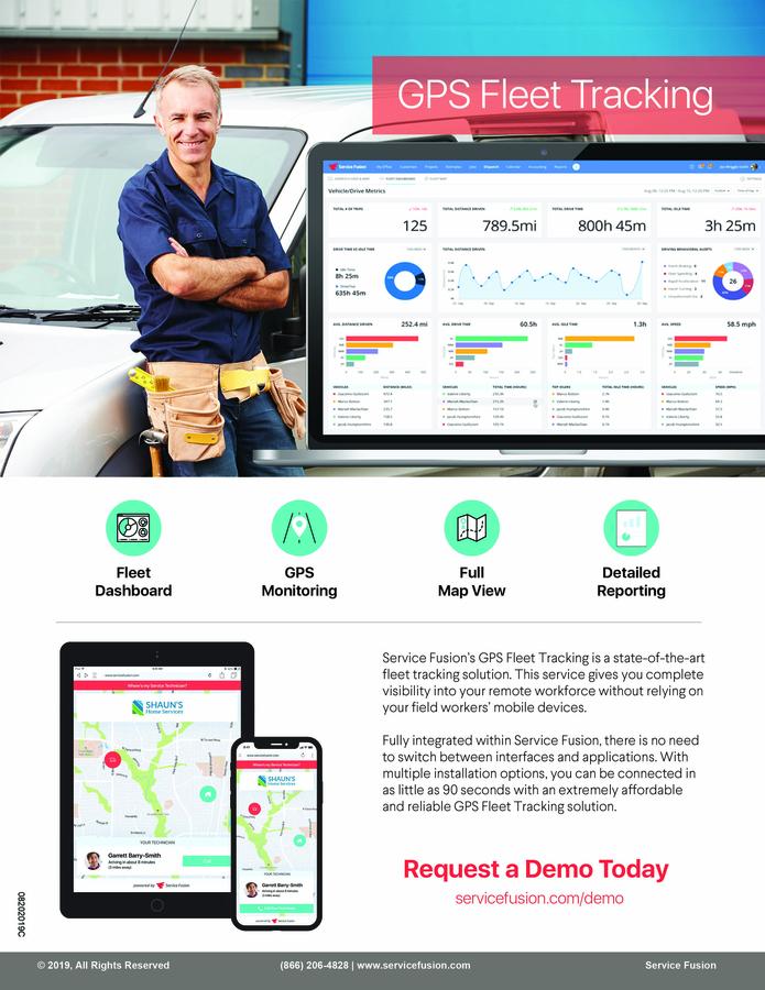 Service Fusion Introduces GPS Fleet Tracking 2.0 With 'Track My Tech' Functionality