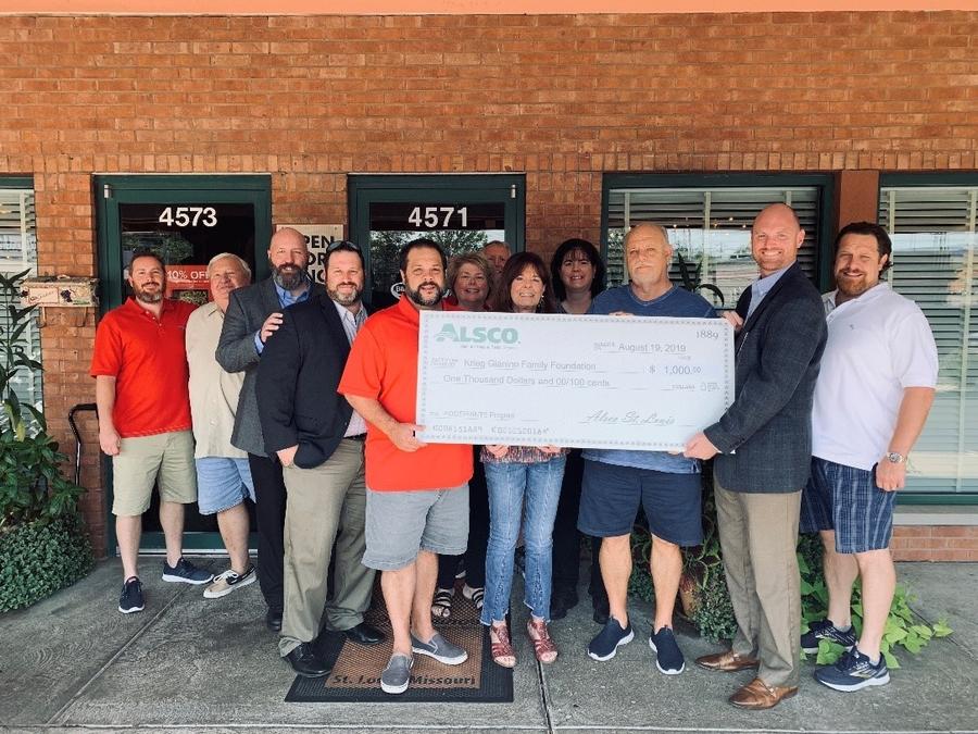 Alsco St. Louis Donates to the Krieg Gianino Family Foundation