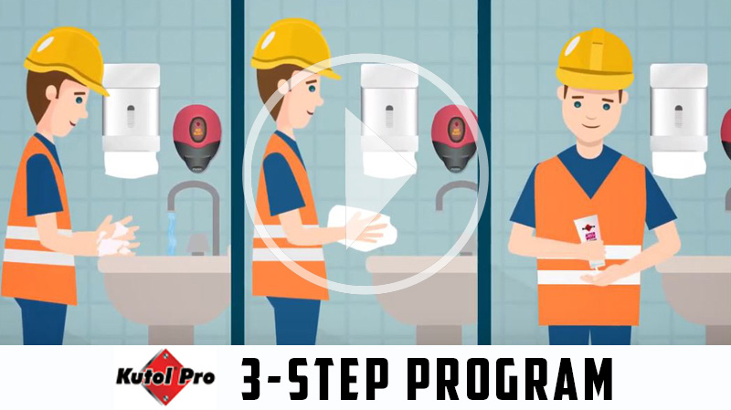 Kutol® Pro 3-Step Program Helps Reduce Occupational Dermatitis Risk