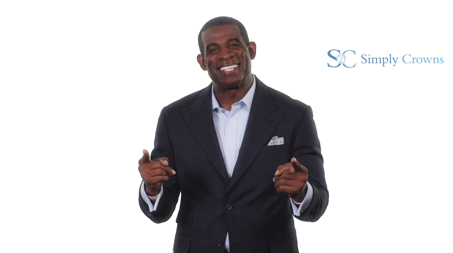 "Simply Crowns Partners with Deion Sanders and His ""Primetime"" Smile"