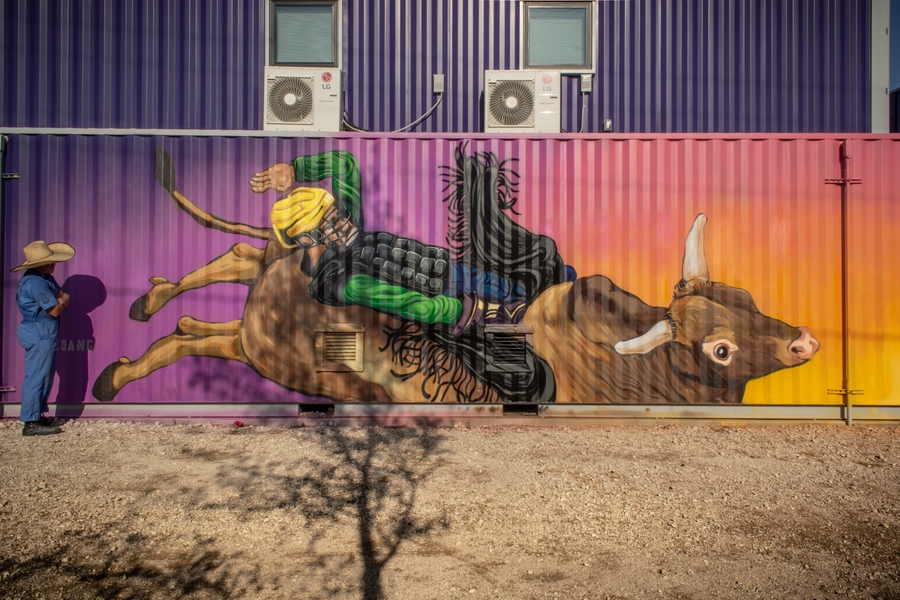 "Artist Luis Angulo Completes ""The Bull Rider"" in Fort Worth Design District"