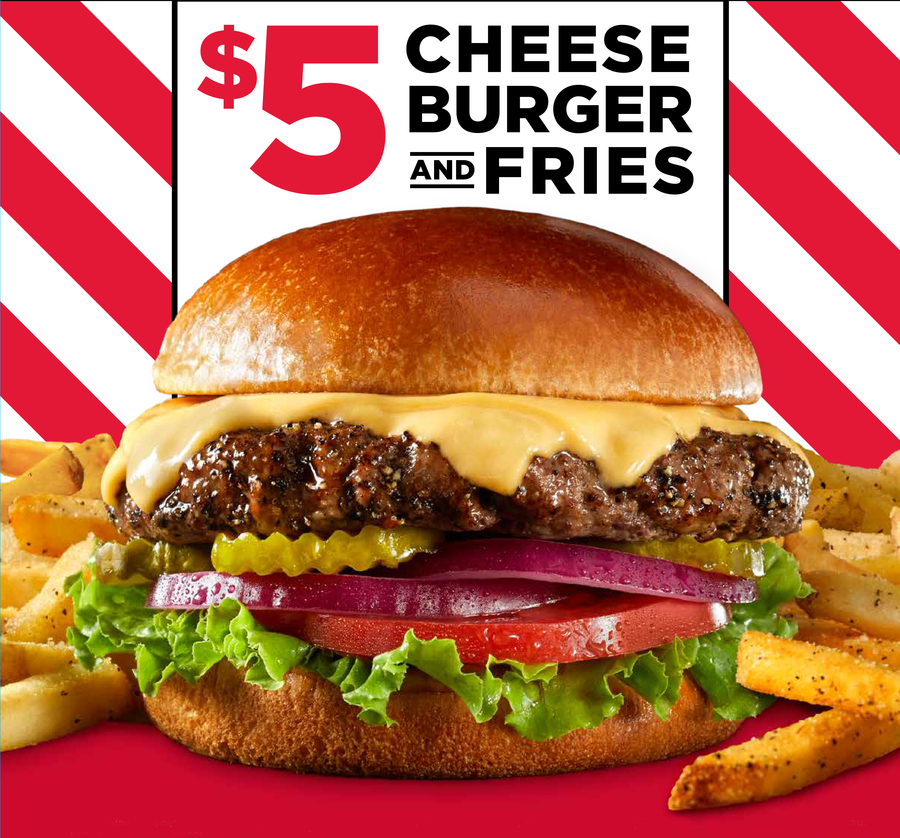TGI Fridays™ Makes Every Day Cheeseburger Day with $5 Cheeseburgers & Fries