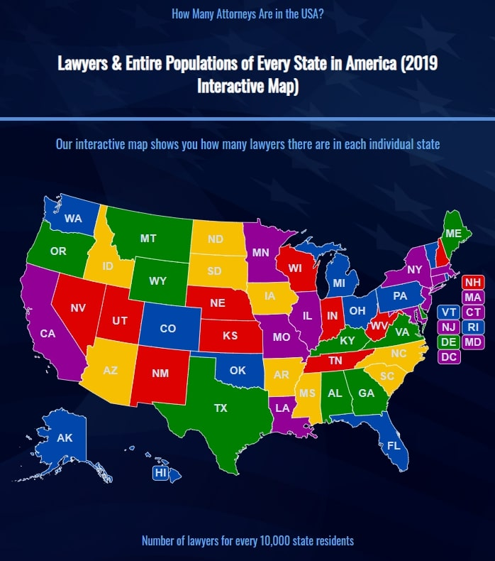 The American Bar Association Releases 2019 Data Revealing The Number Of Lawyers In The United States Increasing