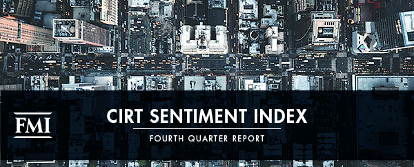 FMI Releases CIRT Sentiment Index, Fourth Quarter 2019 Report