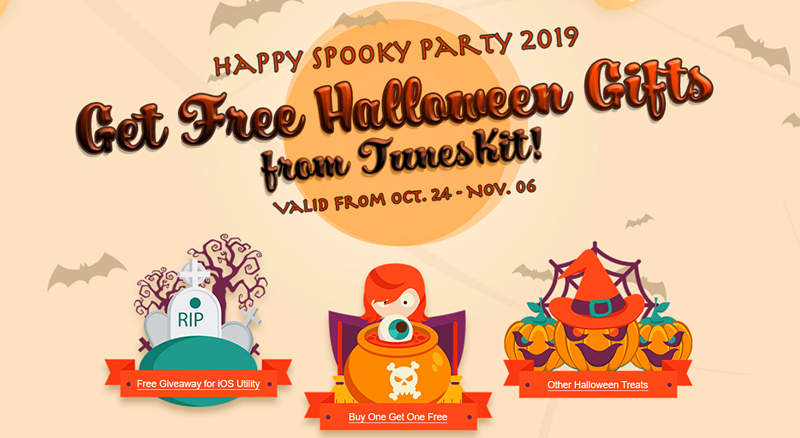 TunesKit Rolls out Halloween Spooky Promo 2019: Free Software and More