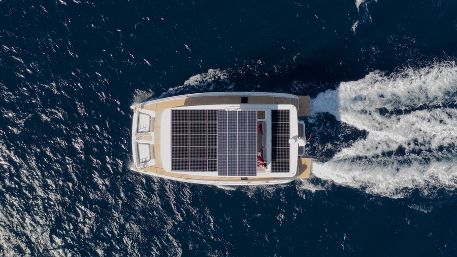 New Upgraded Version of Solar Electric Catamaran SILENT 55 to Make US Debut at FLIBS 2019
