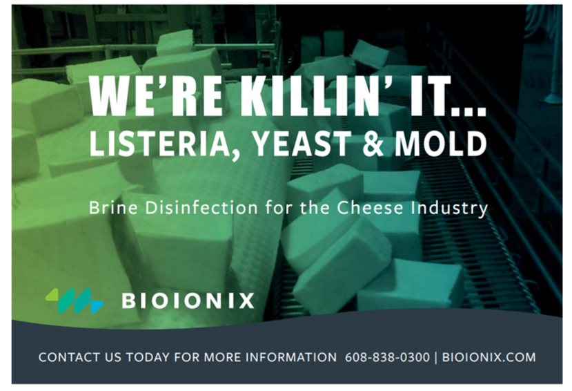 Bioionix Recognized as a Disinfection Solution for Mozzarella Processing World Wide