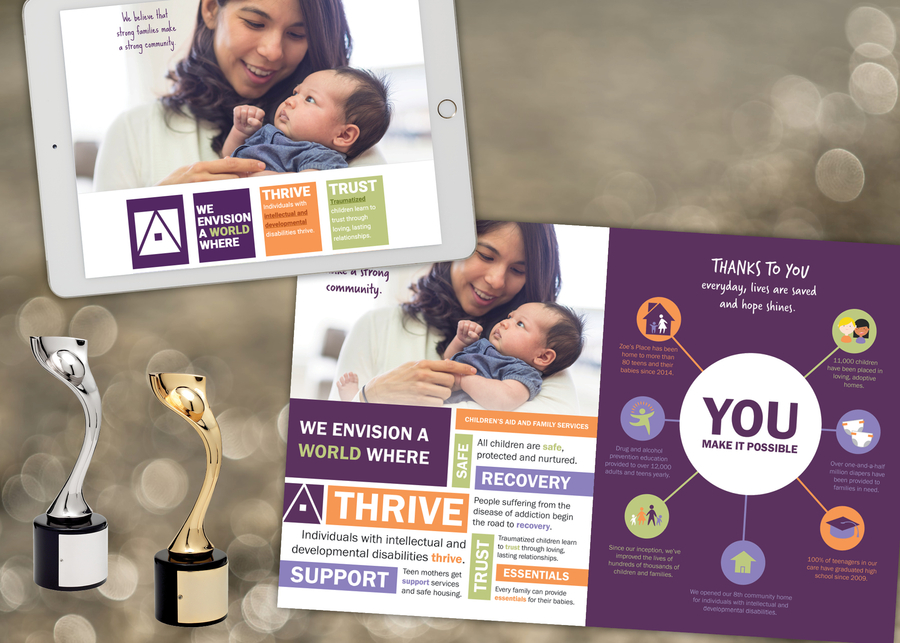 Rapunzel Creative Marketing Wins Two Davey Awards for Creative Work on Behalf of Children's Aid and Family Services
