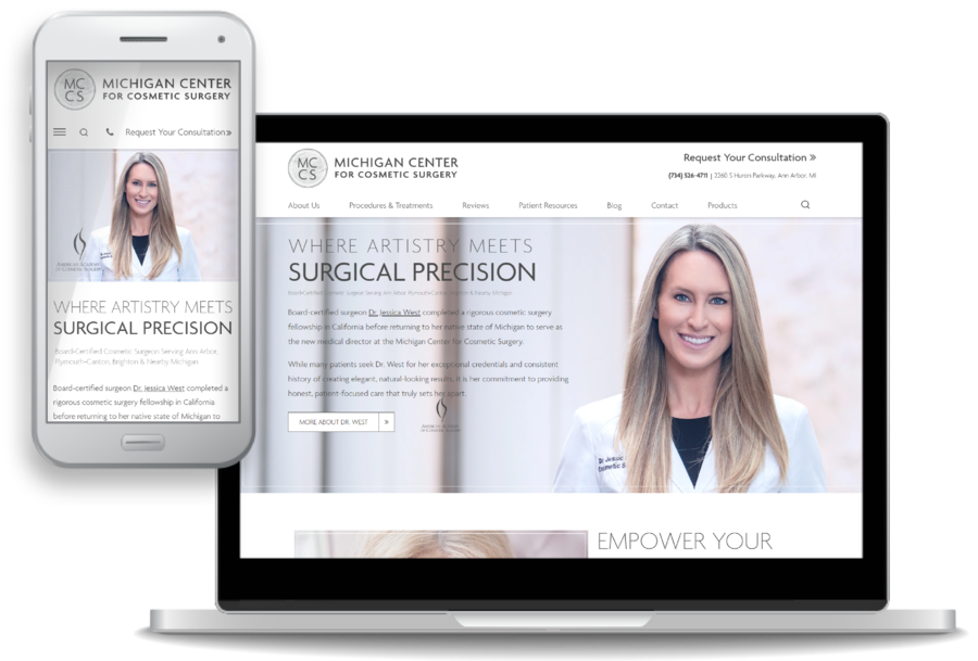 Michigan Center for Cosmetic Surgery Launches New Website