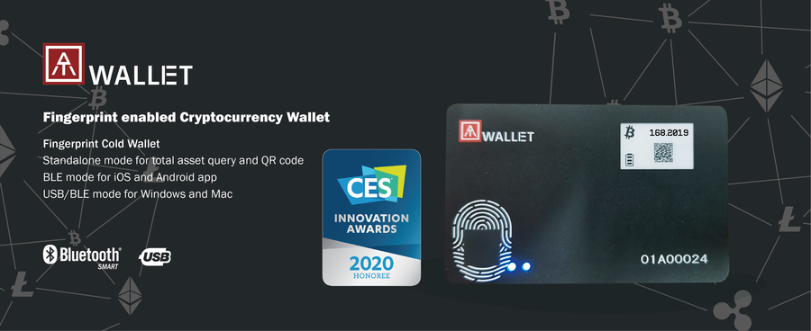 AuthenTrend Fingerprint enabled Blockchain Cold Wallet Proudly Wins CES 2020 Innovation Award Honoree for Cybersecurity and Personal Privacy