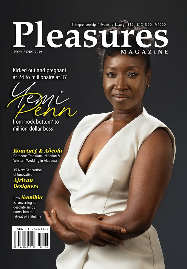 From Rock-bottom to Million-Dollar Boss: British-born Nigerian Entrepreneur Yemi Penn Covers PLEASURES Magazine Nov/Dec Issue