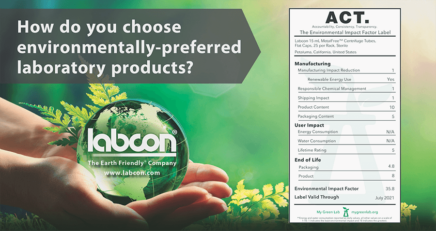 Labcon's ACT-Labeled Products Set New Standard For Environmentally-Friendly Laboratory Consumables