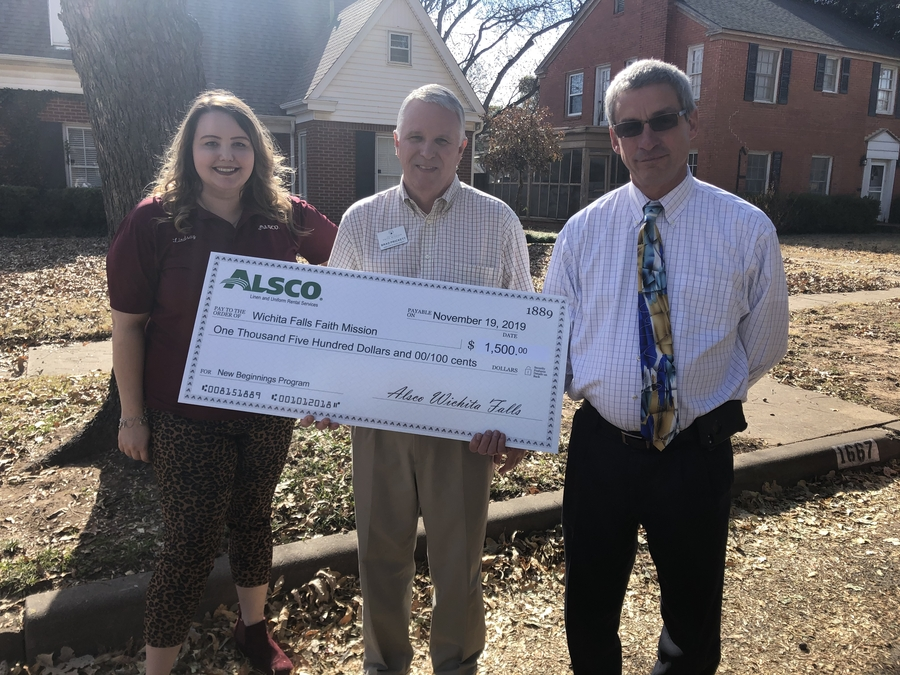 Alsco Wichita Falls Donates to the Wichita Falls Faith Mission