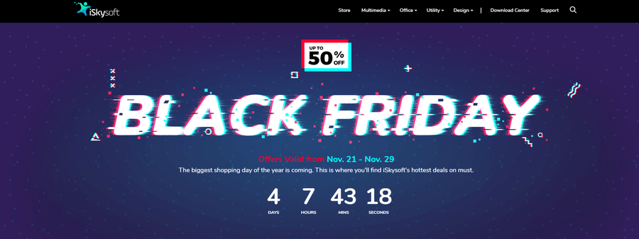 iSkysoft Black Friday- Best Deals for Video and Data Solution