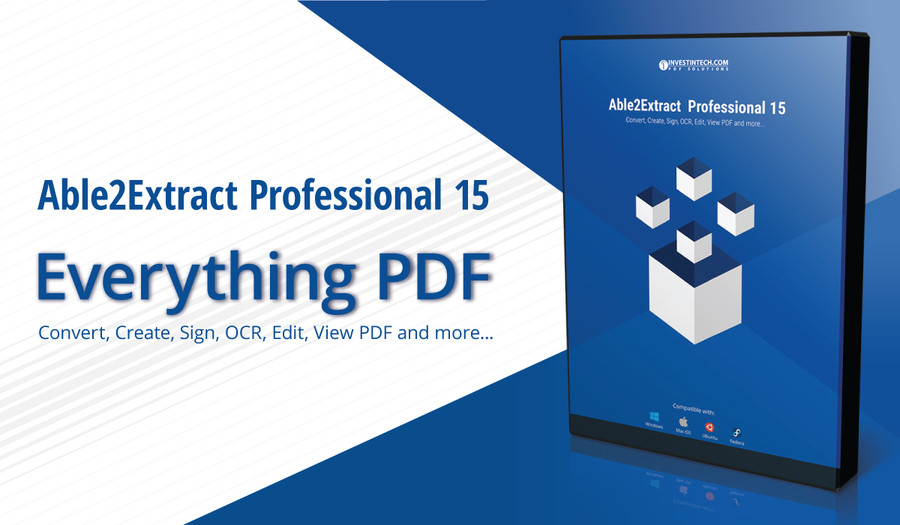 Investintech.com Launches Able2Extract Professional 15