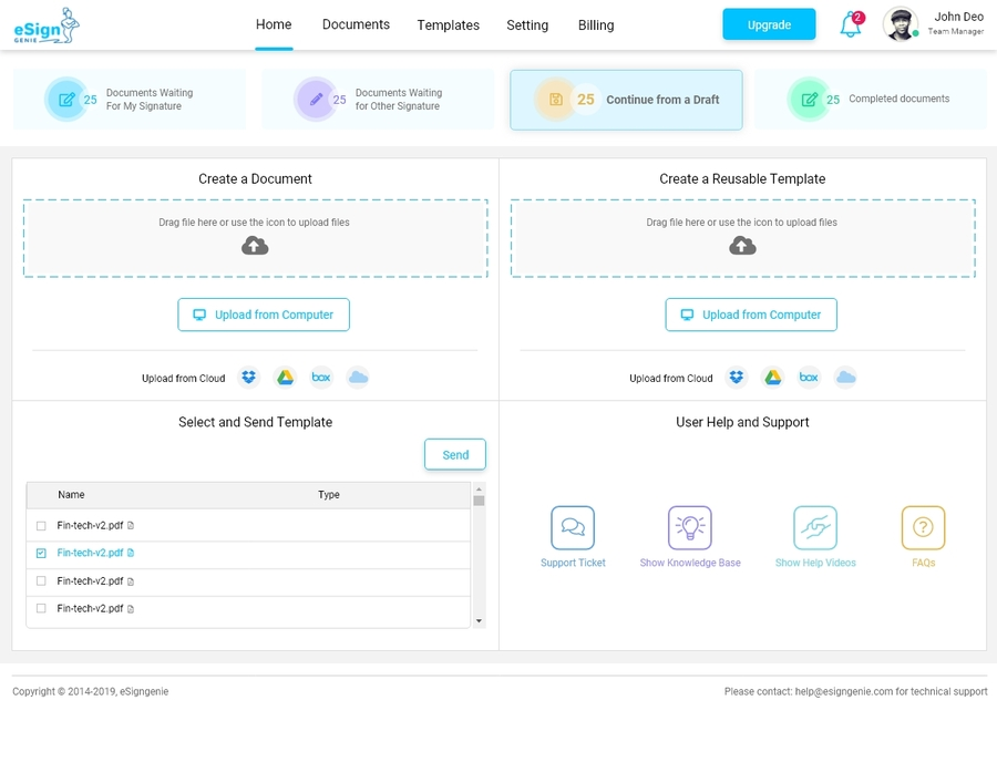 eSign Genie Releases a New User Interface, Experience and Branding