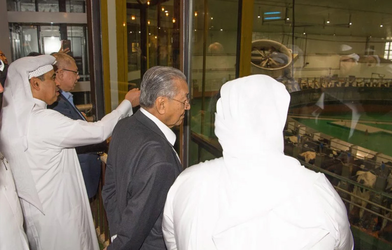 Dr M visits Qatar's dairy company Baladna