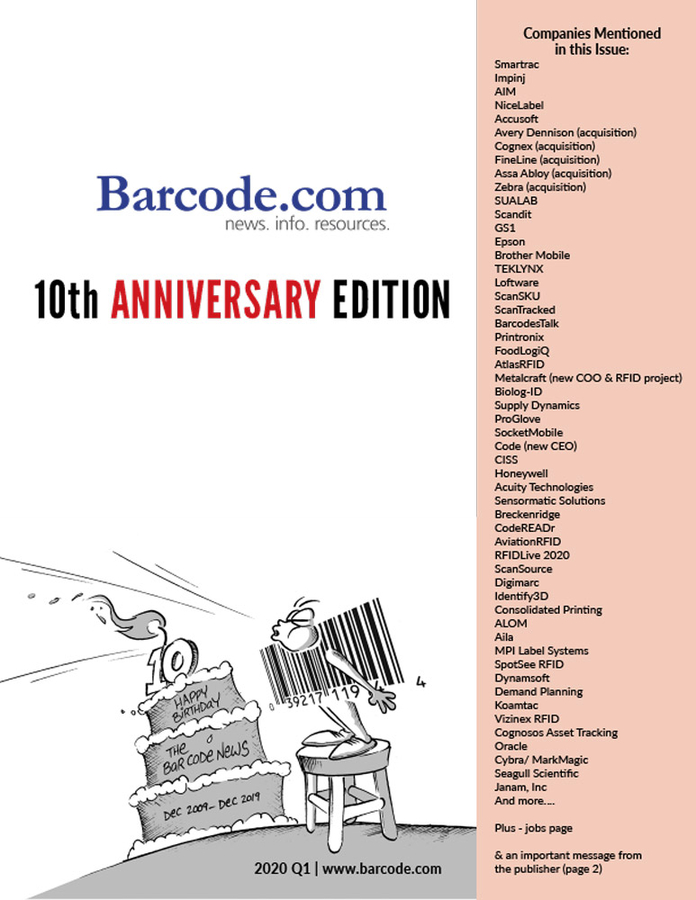 The Bar Code News 10th Anniversary Issue (Q1-2020) – Also Our Final Issue